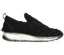 Texturierte Slip-On-Sneakers