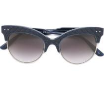 Cat-Eye-Sonnenbrille mit Ledereinsätzen - women
