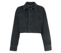 Klassische Cropped-Jacke