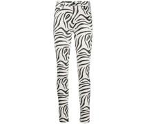 Taillenhose mit Zebra-Print