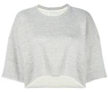 Cropped-Sweatshirt mit Dreiviertelärmeln