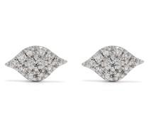 18kt Eye Weißgoldohrringe mit Diamanten