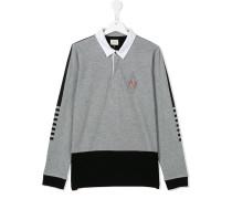 Sweatshirt mit Poloshirt-Kragen