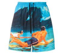 Shorts mit Surf-Print