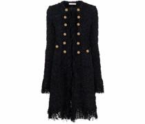 Strukturierter Mantel mit langem Schnitt