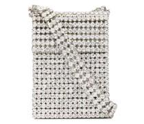 Kleine Schultertasche mit Kristallen