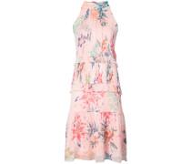 halterneck floral print dress