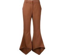 Cropped-Hose mit ausgestelltem Bein