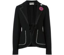 contrast stitching blazer