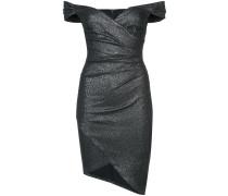 Schulterfreies Kleid mit Raffung