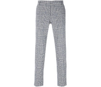 houndstooth patterned trousers