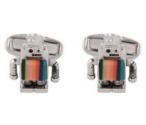 Manschettenknöpfe im Roboter-Design