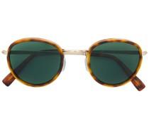 Schildpatt-Sonnenbrille mit rundem Gestell