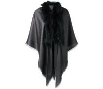 raccoon fur trim scarf