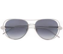 Pilotenbrille mit SwarovskiKristallen