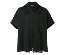 zipped front hoodie