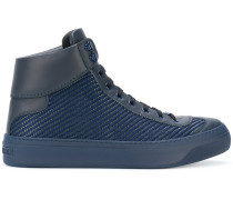 Argyle hi-top sneakers