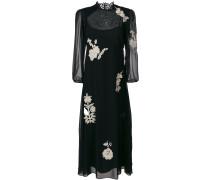 floral patch maxi dress