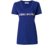 Bedrucktes T-Shirt mit U-Ausschnitt