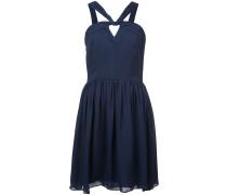 strappy neck flared dress