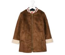 furry trim bomber coat
