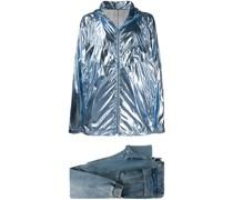 Set aus Metallic-Jacke und Jeans