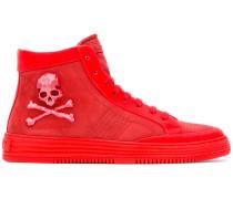 High-Top-Sneakers mit Totenkopf