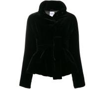 belted velvet jacket