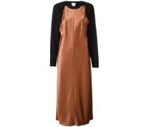 Satin-Kleid mit Sweatshirt-Ärmeln