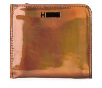 shiny small zip wallet