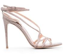 Metallische Sandalen mit Riemchen