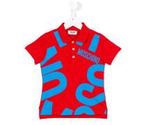 Poloshirt mit Logo - kids - Baumwolle/Elastan