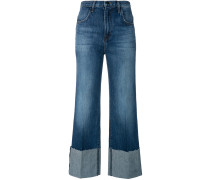 Ausgestellte Jeans mit hohem Bund