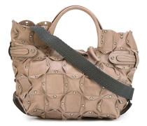 Mittelgroße Handtasche mit silberfarbenen Nieten