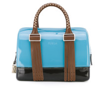 'Boston' leather-trimmed tote - women