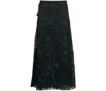 floral embellished midi skirt