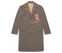 Mantel mit Rosenstickerei