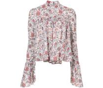 Florale Bluse mit Raffungen