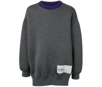 Oversized-Pullover mit Logo-Patch