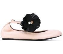 Ballerinas mit Blumen-Applikation - women