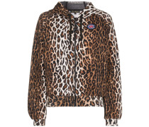 Kapuzenpullover mit Leopardenmuster