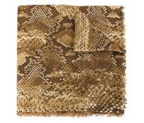 Schal mit Schlangenleder-Print
