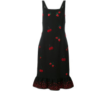 Kleid mit Beeren-Applikationen
