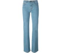 Bootcut-Jeans mit Hintertaschen