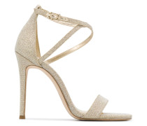 Glitter-Sandalen mit Absatz