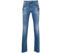 Skinny-Jeans mit Reißverschlüssen