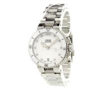 'Aquis Date Diamonds' analog watch