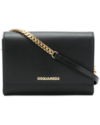 Dsquared2 Damen Schultertasche mit Logo-Schild Billig Verkauf Finish Spielraum In Mode 3wqZ4WPNfZ