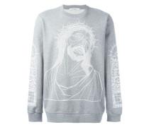 "Sweatshirt mit ""Christus""-Print"