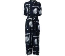 Hemdkleid mit Print aus Seide - women - Seide